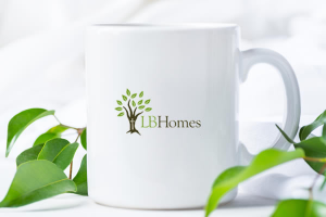LB Homes coffee cup