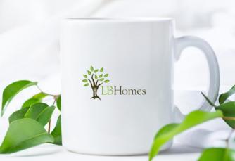 LB Homes coffee cup